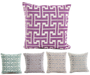 "Fennco Styles Two Tone Geometric Design Decorative Throw Pillow - 18""x 18"""