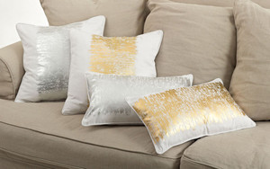 Fennco Styles Agatha Metallic Banded Cotton Collection