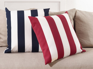 Fennco Styles Classic Wide Stripe Poly Filled Throw Pillow