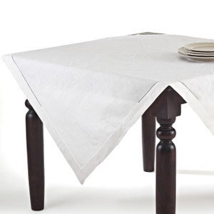 Fennco Styles Handmade Basic Hemstitch Linen-Cotton Tablecloths