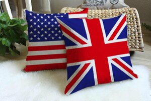 Flags Linen-cotton Throw Pillow/ Cover Case, 17-inch Square