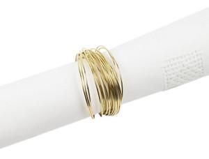 Fennco Styles Classic Design Metal Napkin Ring - Set of 4