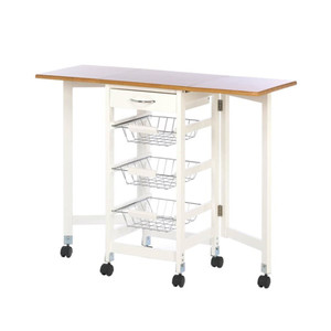 Fennco Styles Kitchen Home Decor Trolley Extended Table