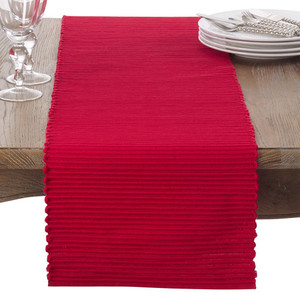 Fennco Styles Classic Everyday Ribbed Cotton Table Runner