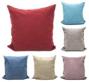 "Fennco Styles Plain Design Solid Color Decorative Cushion Case Pillow Cover 17"" Square"
