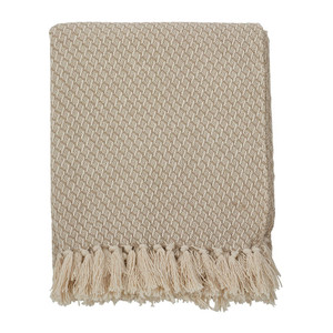 "Fennco Styles Classic Tassel Trim Cotton Throw- 50""x60"""