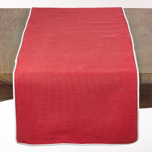 "Fennco Styles Classic Table Runner with Piping-16""x72"""