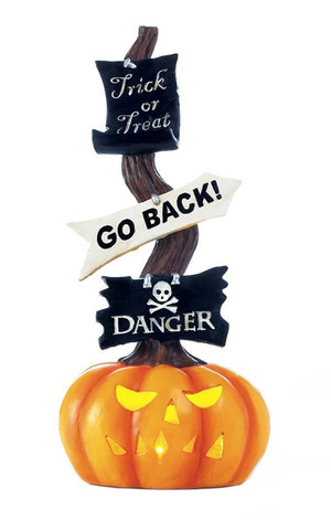 Fennco Styles Spooky Halloween Pumpkin Light-Up Sign