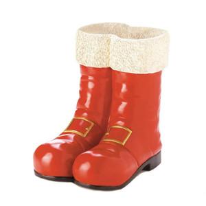Fennco Styles Christmas Santa Red Boot Holiday Decorative Vase