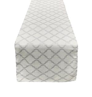 """Fennco Styles La Contessa Printed Moroccan Cotton Table Runner, 13""""x72"""""""