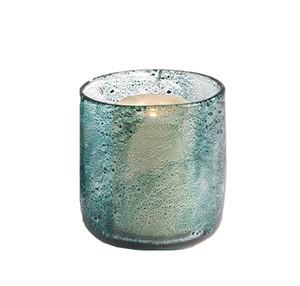Fennco Styles Teal Decorative Hand Blown Bubble Glass Vase