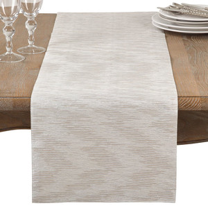 "Fennco Styles Metallic Woven Glam Table Runner-14""x72"""