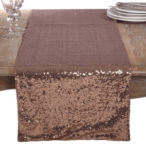 Fennco Styles Shimmering Sequin Evening Dinner Party Event Table Runner