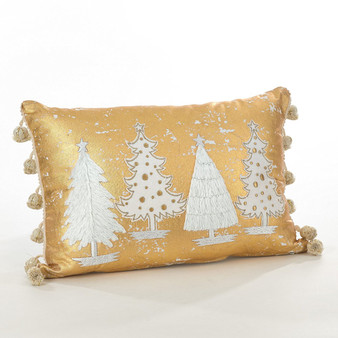 Fennco Styles Donnelou Collection Christmas Tree Design Cotton Runner/ Throw Pillow