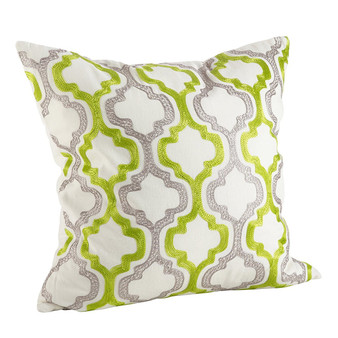 Fennco Styles Alana Embroidered Moroccan Tile Design Throw Pillow