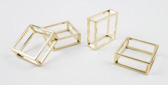 Fennco Styles Classic Design Metal Napkin Ring - Set of 4 (Bangle & Square Bangle)