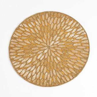 Fennco Styles Jaipur Handmade Beded Design 15-inch Round Placemat - 1-Piece
