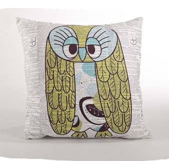 Adorable Owl Down Filled Throw Pillow