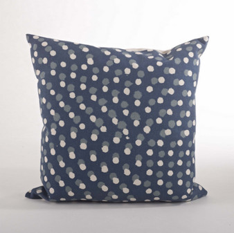 Dotted Down Filled Decorative Throw Pillow, 20-inch Square