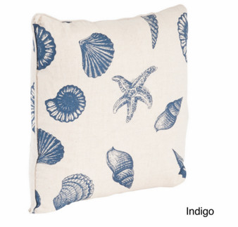Nautical Design Throw Pillow, Down Filler Included, 18-inch Square
