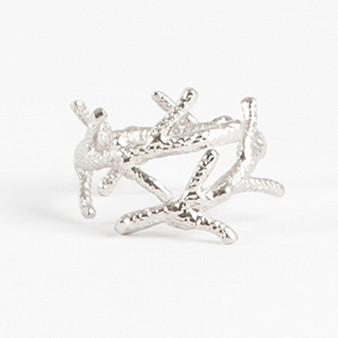 Elegant Coral Napkin Rings, Set of 4