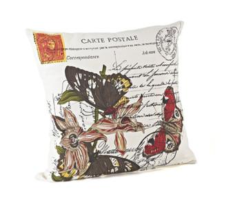 Postcard Design Down Filled Decorative Throw Pillow