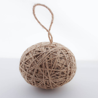 Burlap Christmas Tree Twine Jute Ball Ornaments