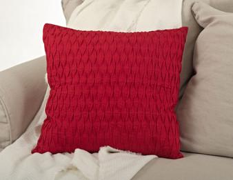 Kamala Pleated Diamond Decorative Throw Pillow