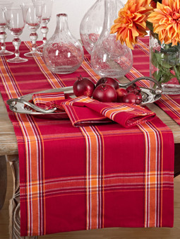 Flannery Plaid Cotton Table Runner