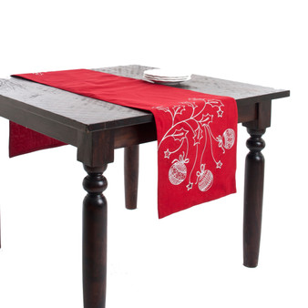 Boules De Noël Holiday Christmas Design Table Runner