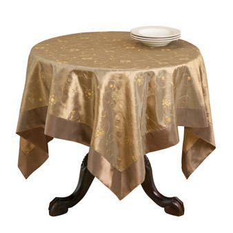 Sevilla Embroidered and Sequined Two Tone Tablecloth