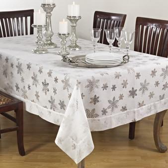 Evening Snowflake Tablecloth, Rectangular