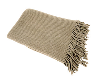 Home Decor Faux Cashmere Soft Cozy Throw Blanket, Khaki