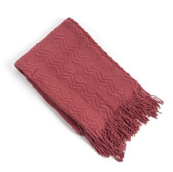 Zigzag Chervon Knitted Throw Blanket