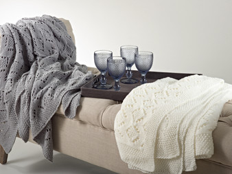 Vintage Inspired Knitted Throw Blanket