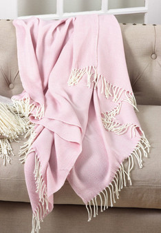 "Herringbone Fringed Throw Blanket - 50""W x 60""L"