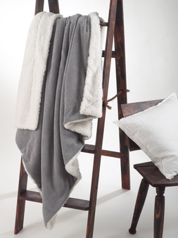Reversible Corduroy Sherpa Throw Blanket