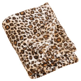 Cheetah Print Plush Throw Blanket
