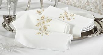 Embroidered Snowflake Napkin, Set of 4