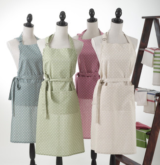Classic Design Dotted Full Length Aprons with a Double Front Pocket