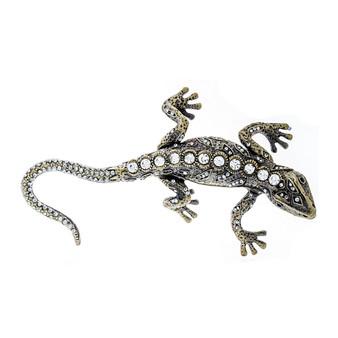 Studded Decorative Jeweled Gecko Trinket Box