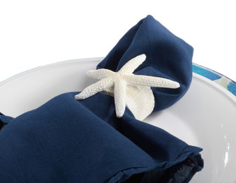 Unique Starfish Nautical Napkin Ring, Set of 4