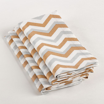 Fennco Styles Chevron Dinner Napkin, Set of 4