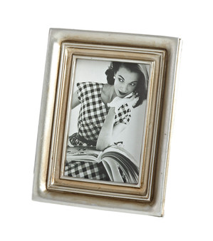 Classic Two Tone Decorative Photo Frame, 2 Photo Sizes