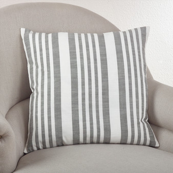 Fennco Styles 20-inch Nautical Striped Down Filled Throw Pillow, 3 Colors