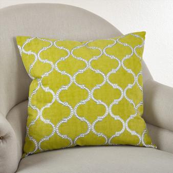 Fennco Styles Stitched Lattice Design Throw Pillow, 3 Colors