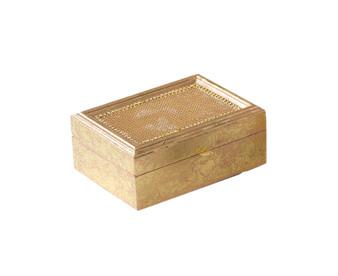 "Fennco Styles Beaded Design Jewelry Box - 2 Colors - 7""x5""x3"""