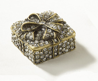 Fennco Styles Crystal Studded Collectible Decorative Jeweled Gift Box