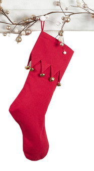 "Fennco Styles Jingle Design Holiday Christmas Stocking - 13""X19"" - 2 Colors"