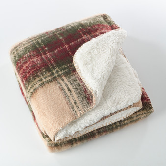Fennco Styles Sevan Collection Faux Mohair Design Sherpa Throw Blanket